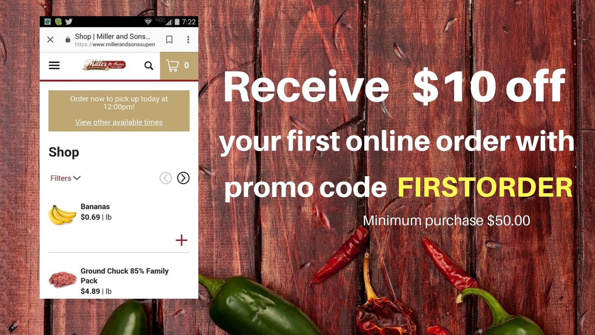 online shopping slider $10 off